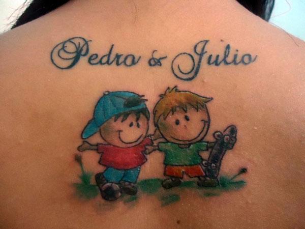 Nome Dos Filhos Foto 1096 Mundo Das Tatuagens